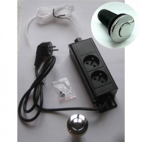 Interrupteur pneumatique pour broyeurs sous évier chrome