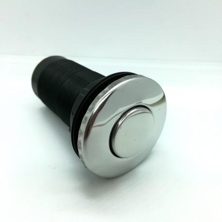 Bouton poussoir d'interrupteur pneumatique chromé